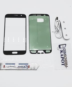 Voor Samsung Galaxy S7 glas reparatie set - zwart