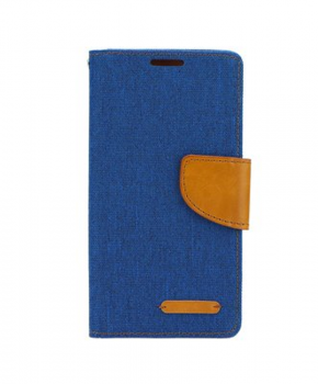 Canvas Book case - voor de Apple iPhone 7/8 -blauw