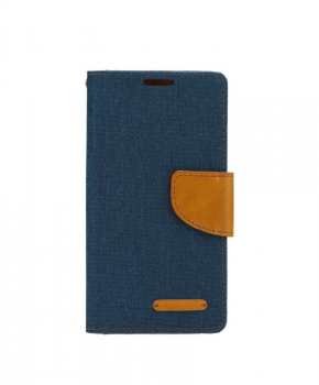 Canvas Book case - voor de Huawei P Smart 2019 - navy
