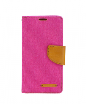 Canvas Book case - voor de Huawei P Smart - roze