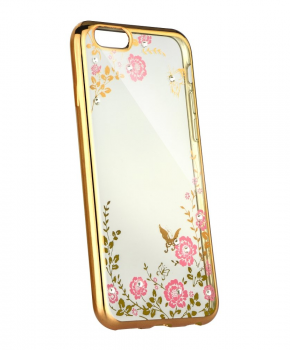 Forcell DIAMOND back cover voor iPhone 5 / 5S / SE - gold