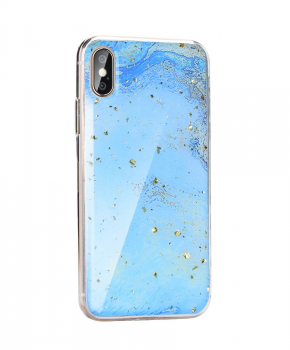 Forcell MARBLE Case voor Samsung Galaxy A10 - glitter blue