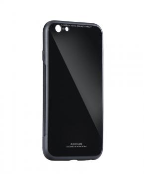 back cover met gekleurd achterglas voor iphone 5 / 5S / SE - zwart
