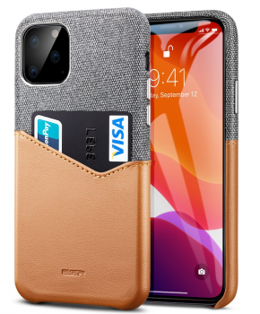 ESR Metro wallet case voor iPhone 11 ( 6.1 ) - grijs/bruin