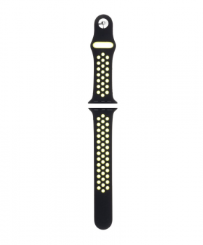 Sport strap voor Apple Watch 38/40mm / C002/ zwart - lime