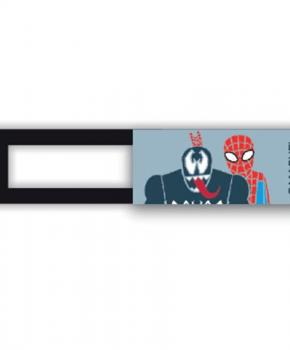 Webcam cover / schuifje  - licentie™ - Spiderman 04 - blauw