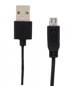 Qtrek micro-usb naar usb kabel 1,2m - Zwart