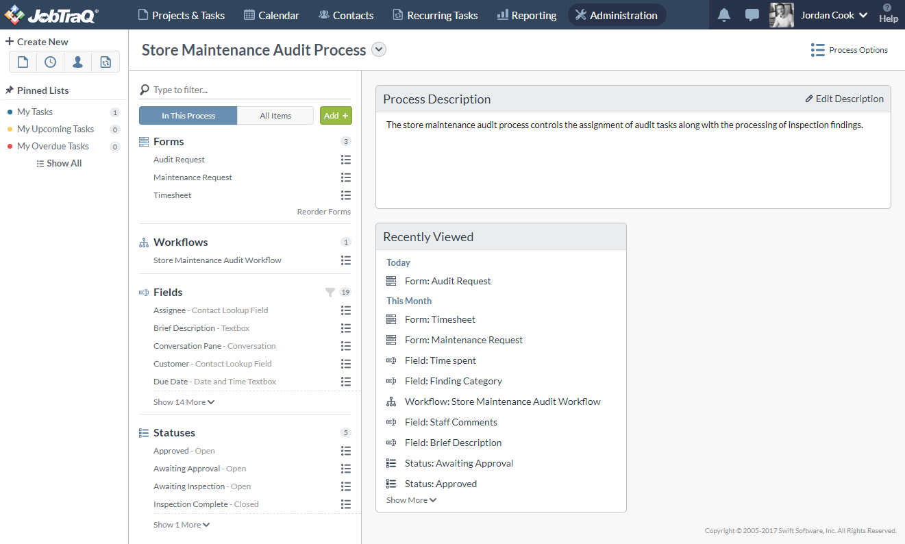 The new Process Overview page