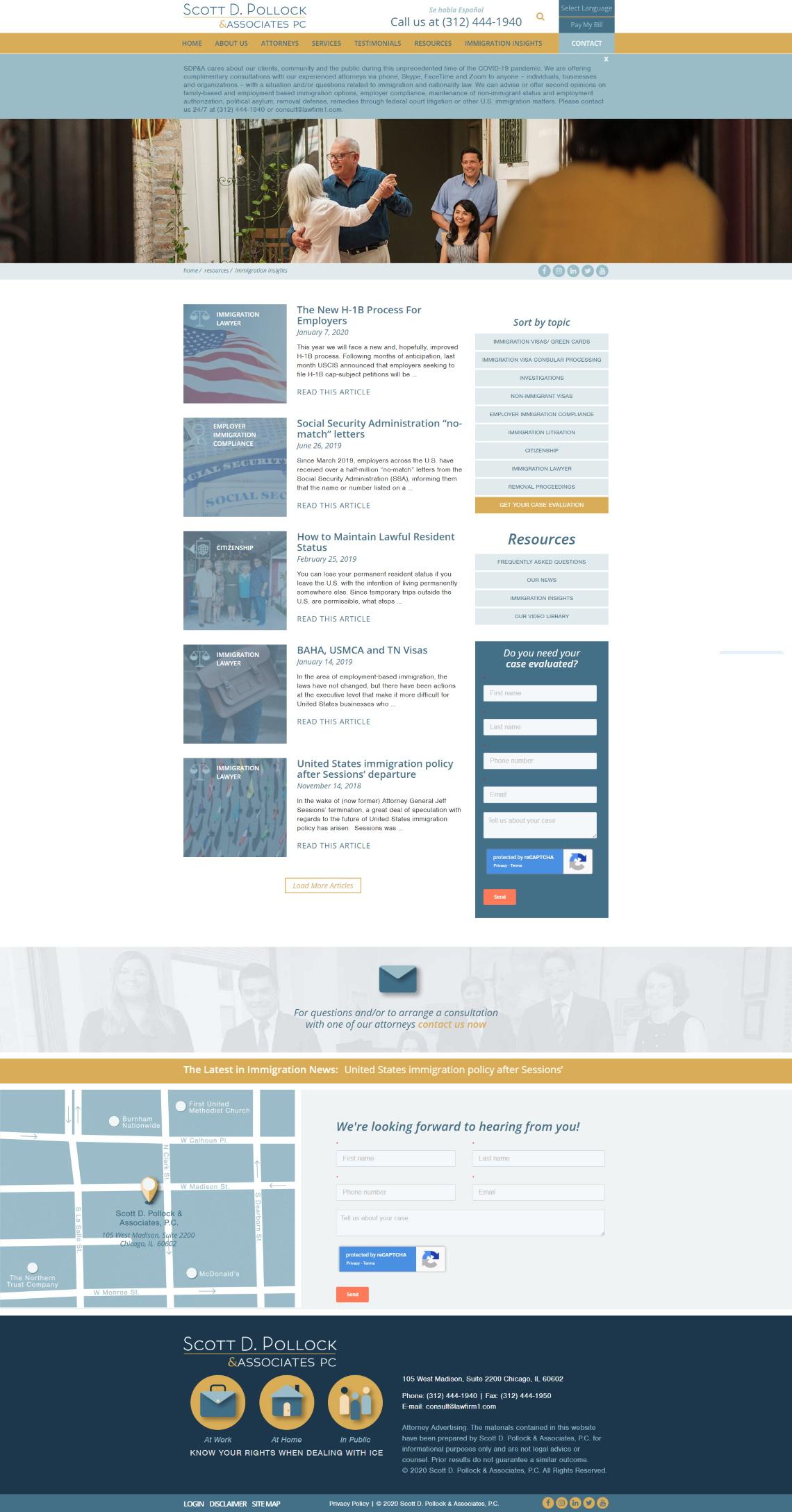 Scott D. Pollock & Associates Screenshot