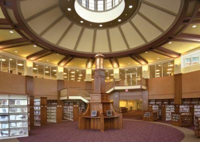 Hudson Library custom wood work