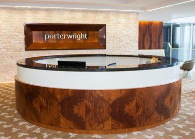 Porter Wright Columbus lobby wood work
