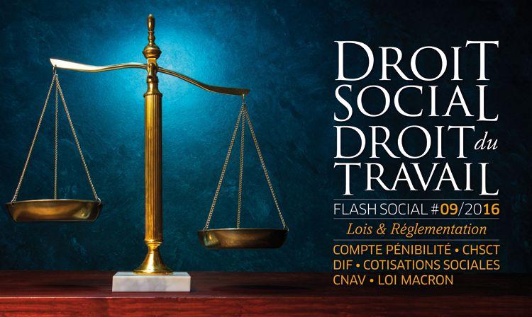 FLASH SOCIAL #SEPTEMBRE2016 : Lois et réglementations