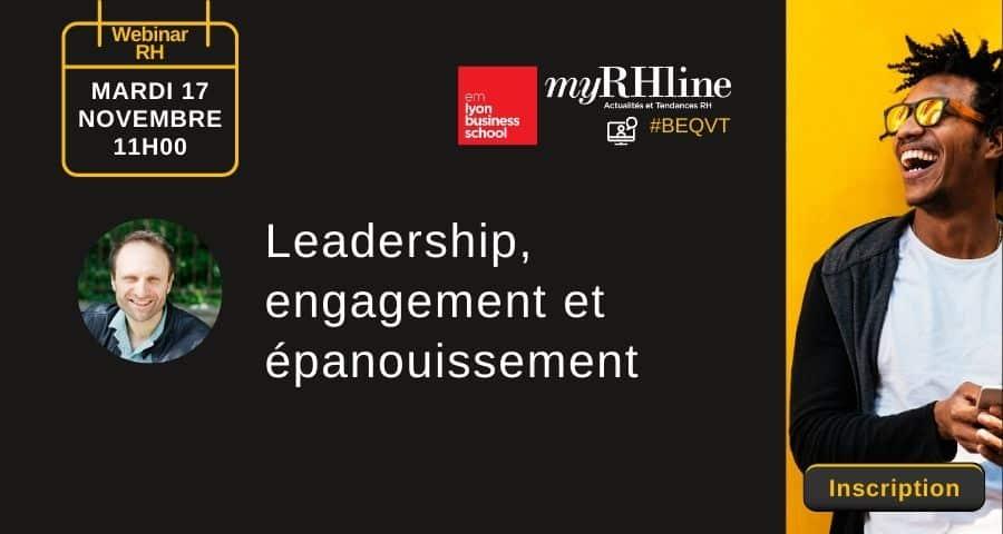 Webinar RH – Leadership, engagement et épanouissement