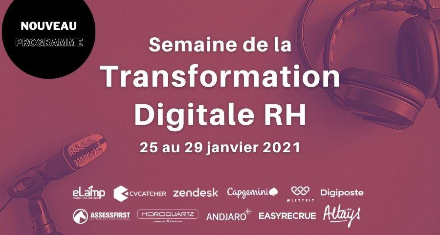 Programme : Semaine de la transformation digitale RH Janvier 2021