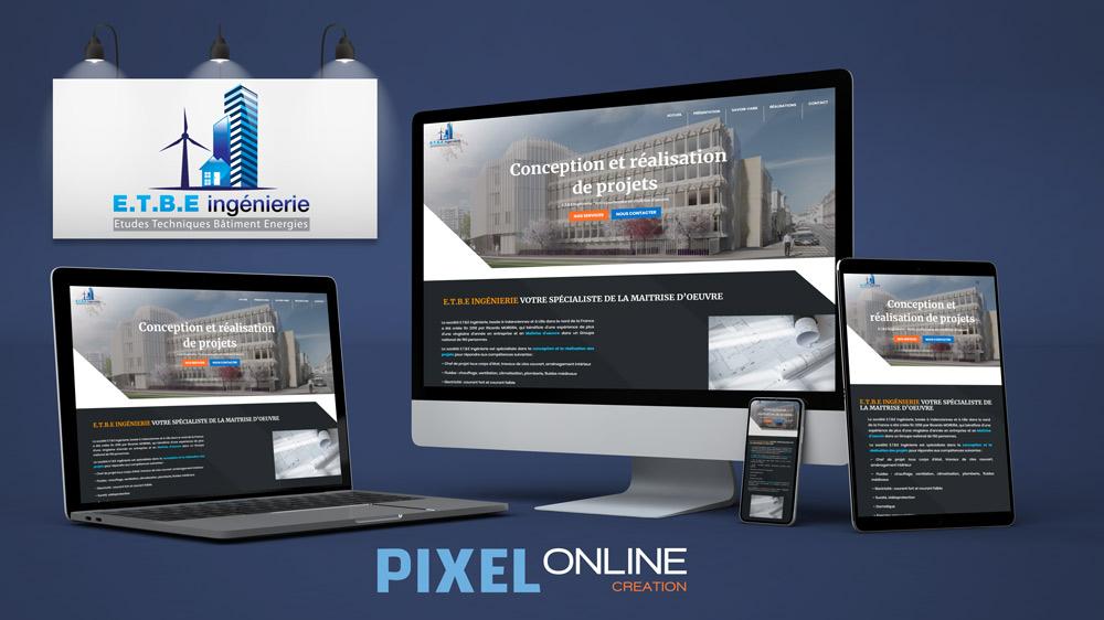 Création site Internet présentation entreprise et portfolio – ETBE ingénierie