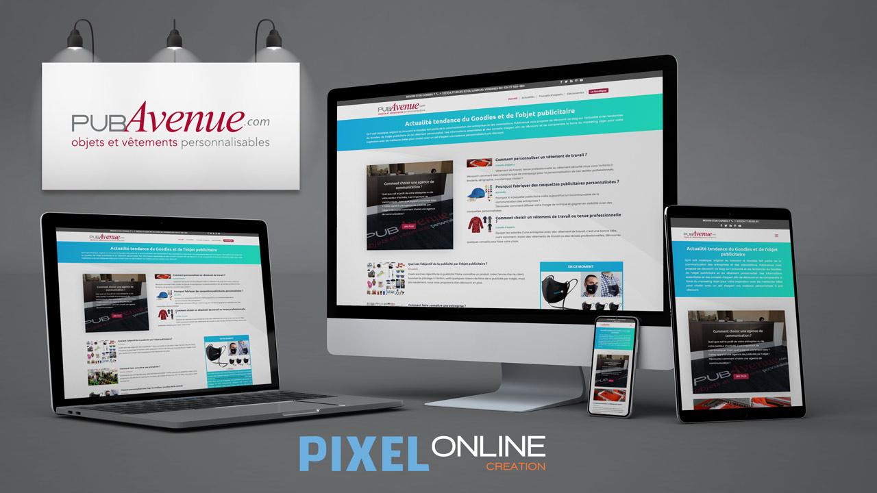 Création blog professionnel, design sur mesure – PubAvenue