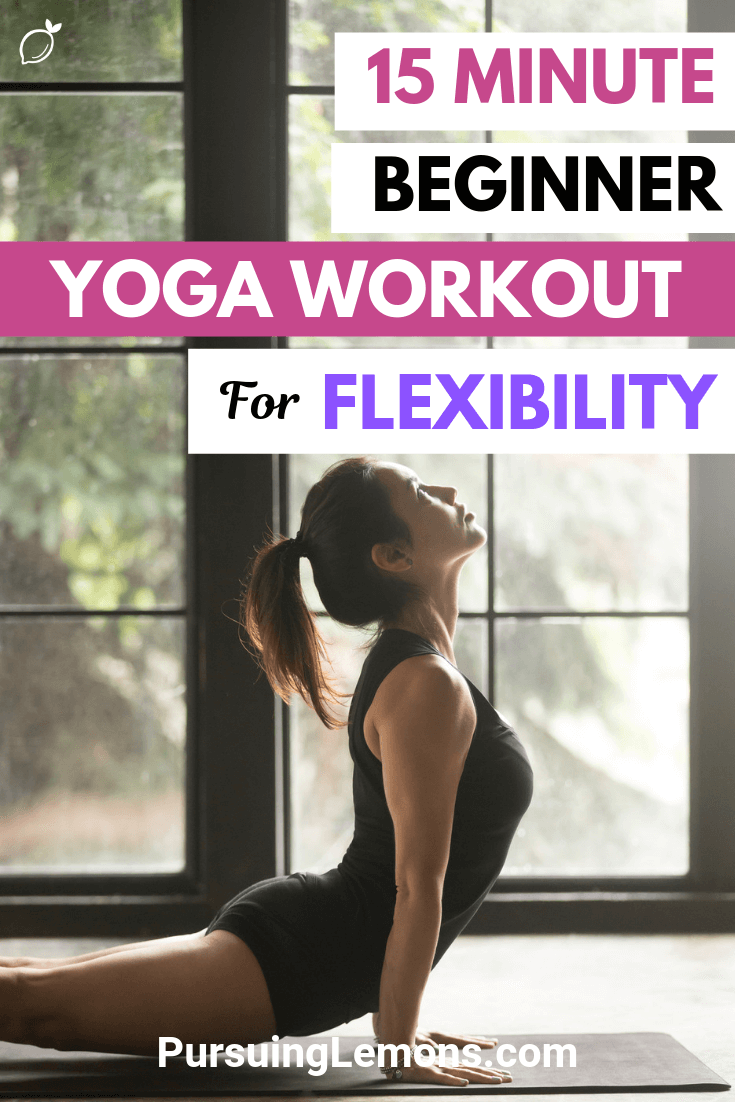 Increasing your flexibility helps to relieve body aches and improves posture. This beginner yoga workout for flexibility will improve your flexibility in no time!