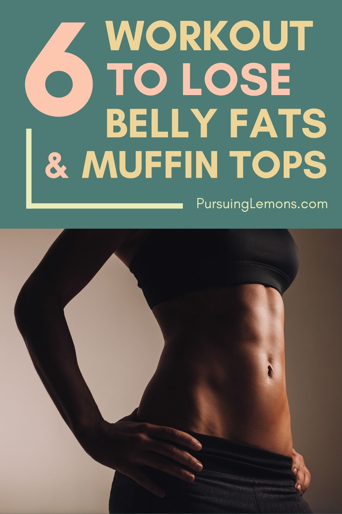 6 Workouts To Lose Belly Fats and Reduce Muffin Tops | Do you want to lose your love handles and muffin top? Then you need to start working on those abs right now with this workout! #losebellyfat #workout #workoutathome