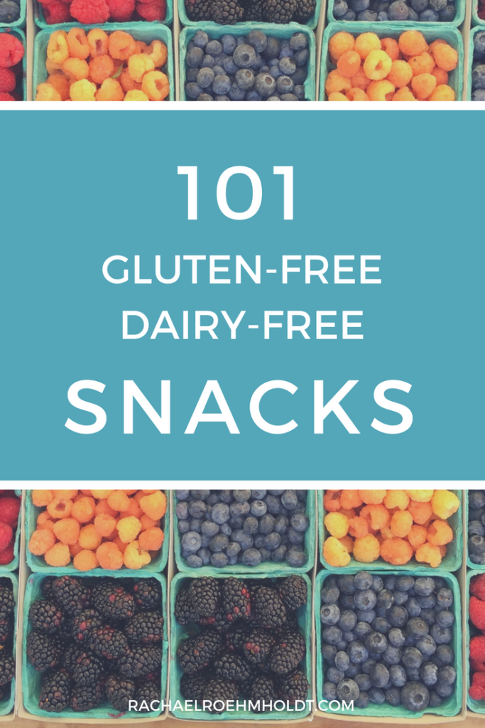 Looking for gluten-free dairy-free snacks? Look no further! I've got you covered with 101 snack ideas for homemade, store-bought, travel, and simple recipes that are quick and easy to put together.