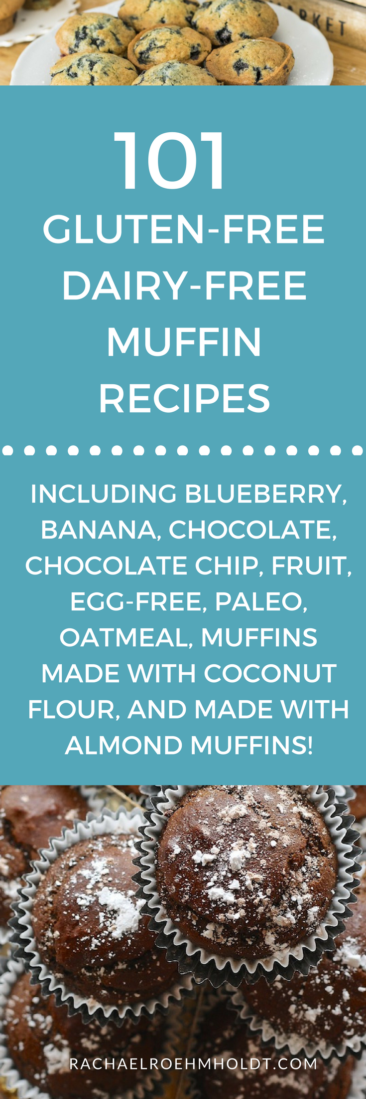 101 Gluten-free Dairy-free Muffin Recipes. Included in this recipe roundup are: gluten-free dairy-free blueberry muffins, gluten-free dairy-free banana recipes, gluten-free dairy-free chocolate muffins, gluten-free dairy-free chocolate chip muffins, gluten-free dairy-free fruit muffins, gluten-free dairy-free egg-free muffins, gluten-free dairy-free paleo muffins, gluten-free dairy-free oatmeal muffins, gluten-free dairy-free muffins made with coconut flour, and gluten-free dairy-free muffins made with almond flour recipes.