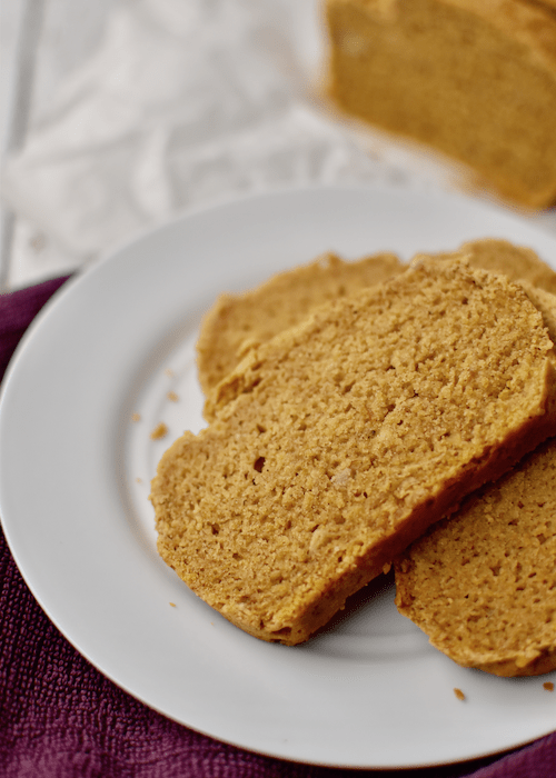 Gluten free Pumpkin Bread - dairy-free, vegan option