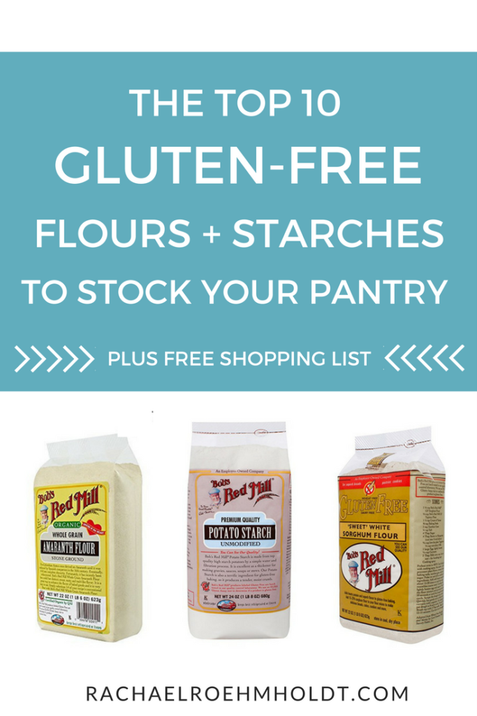If you're just getting started with gluten-free baking recipes, you might wonder what flours you really need to have on hand. Do you need a million or just one all-purpose flour blend? Click through to read the top 10 flours and starches you'll need to keep your gluten-free pantry stocked.