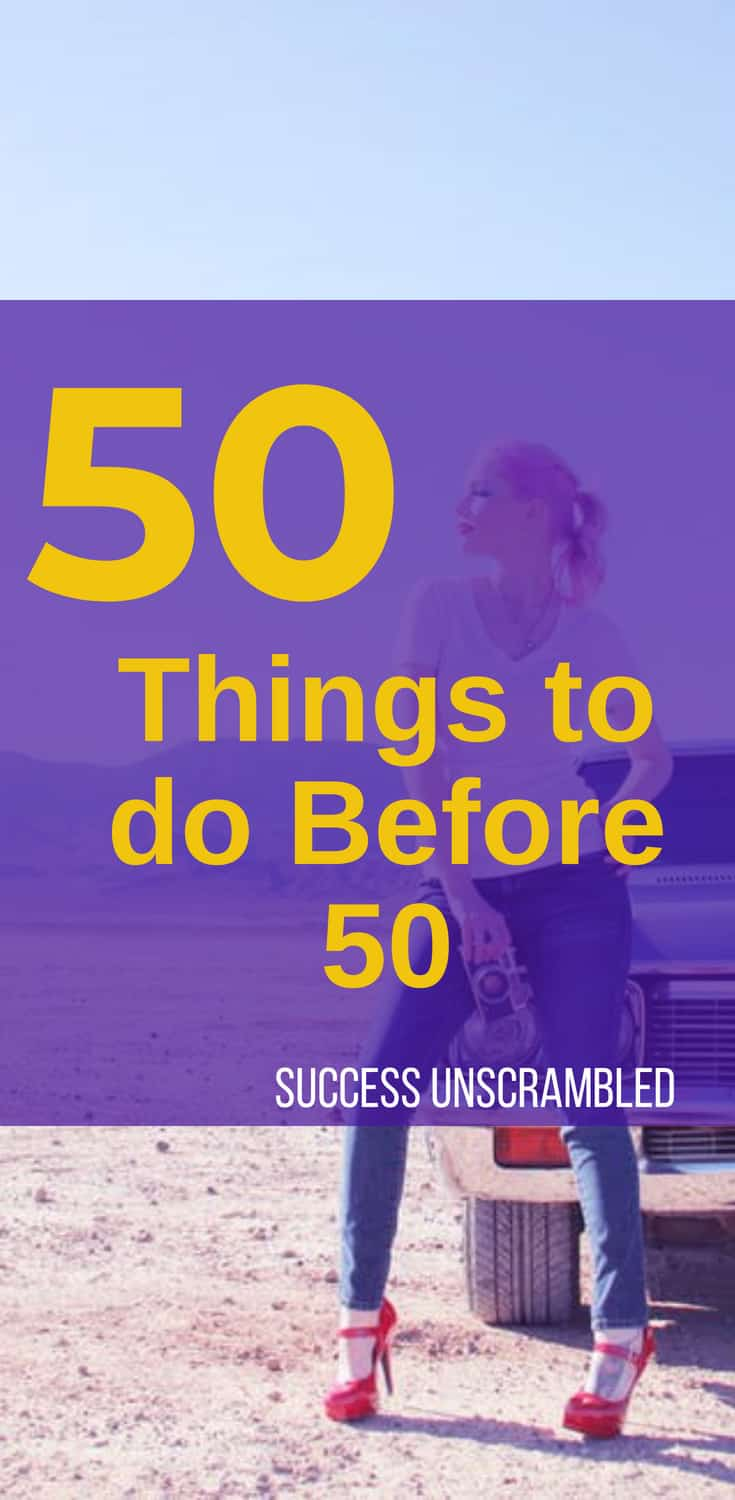 50 things to do before 50 - flat