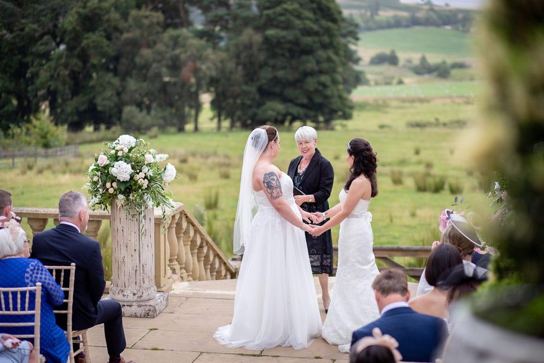Wedding photo at Woodhill Hall