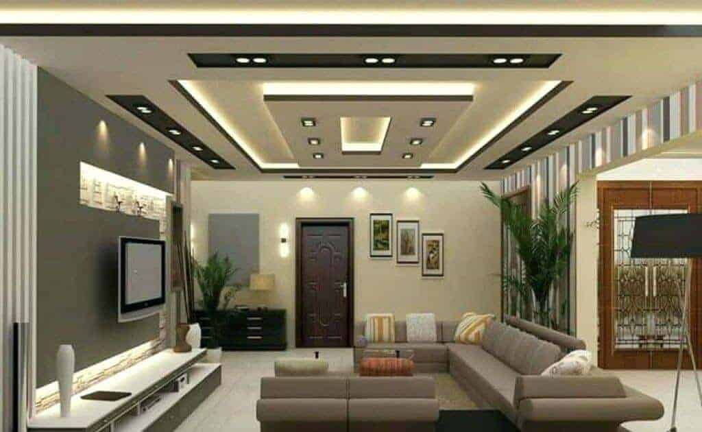 false ceiling lights for living room