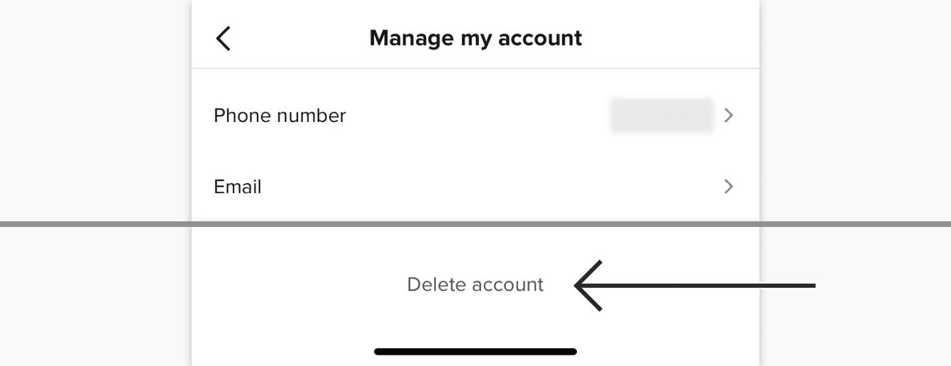 delete TikTok step 5