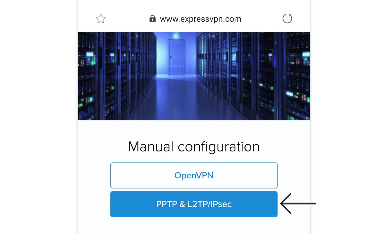 """Tap """"PPTP & L2TP/IPsec."""""""
