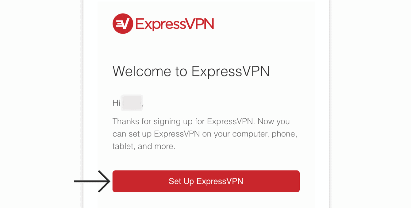 "Tap ""Set Up ExpressVPN."""
