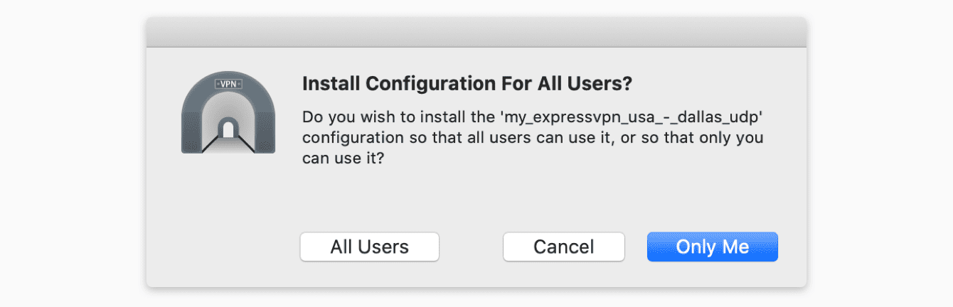 You will be asked if you would like to install for all users. Select your preference.