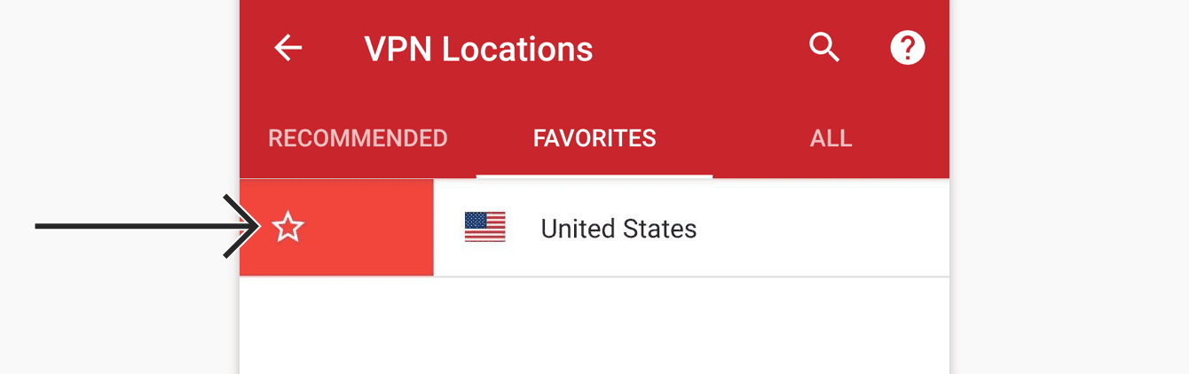 Swipe right on the location to remove it from your favorites.