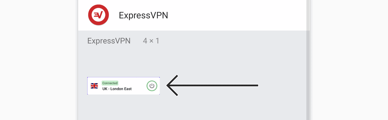 Tap and hold the ExpressVPN widget.