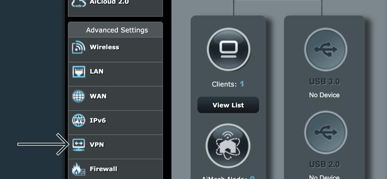 """Click """"VPN."""""""