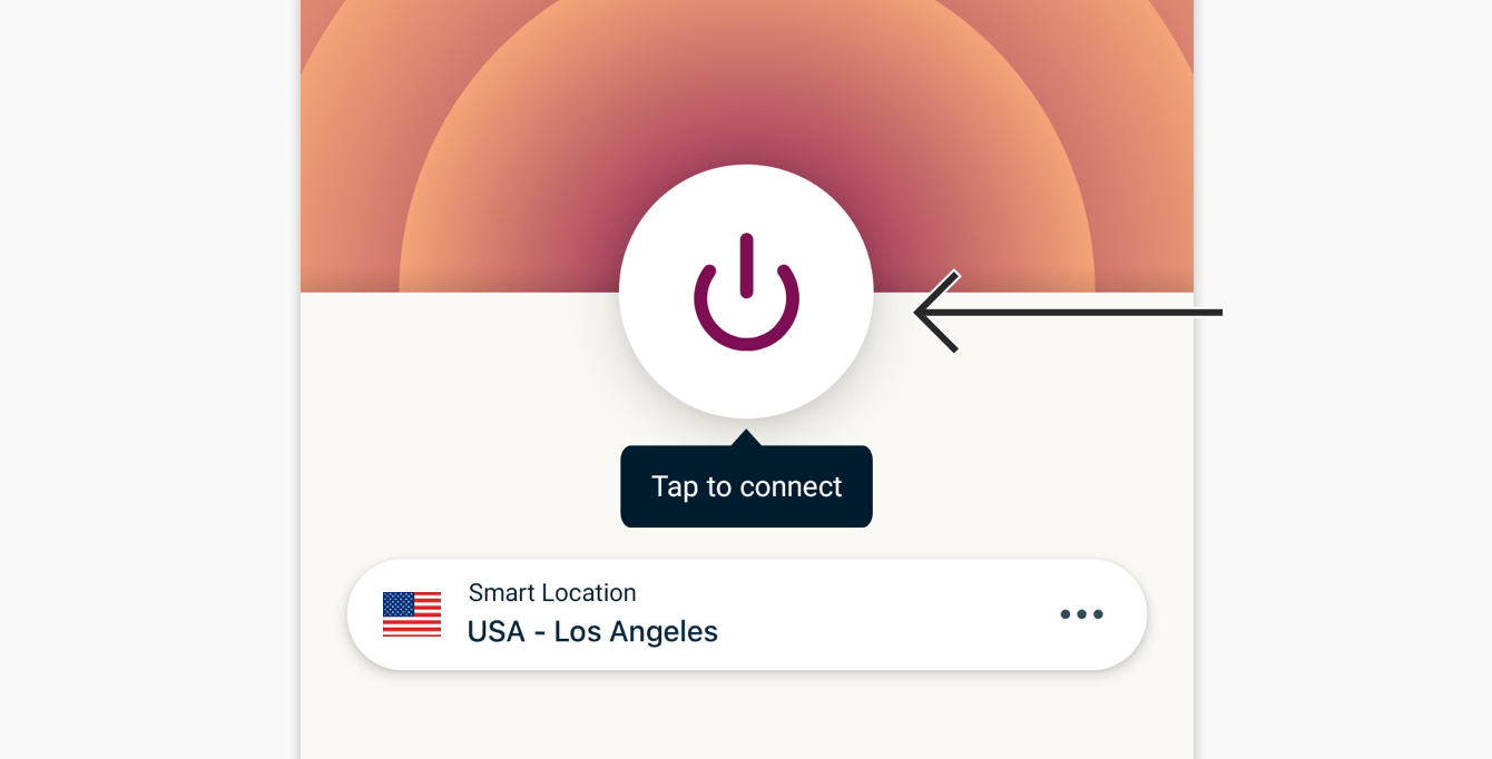 To connect, tap the On Button.