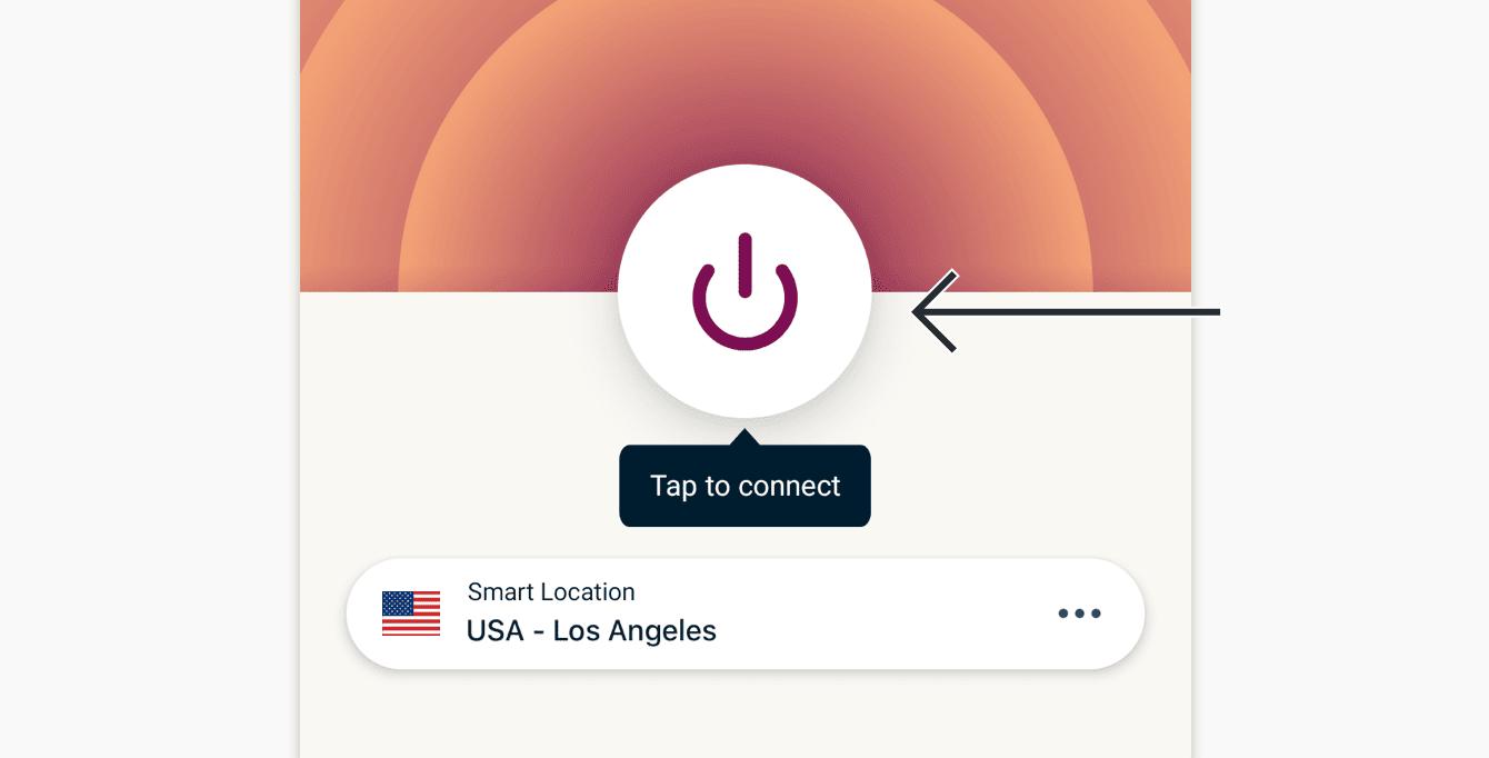 Trykk På-knappen for å koble til.