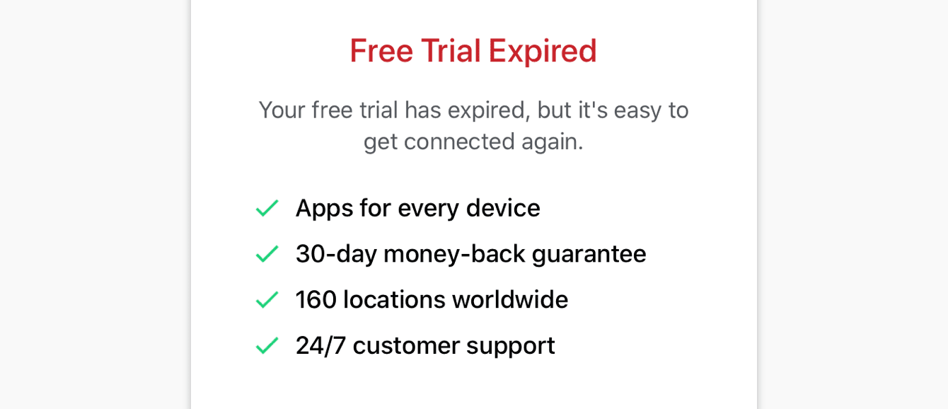 Your free trial has expired.