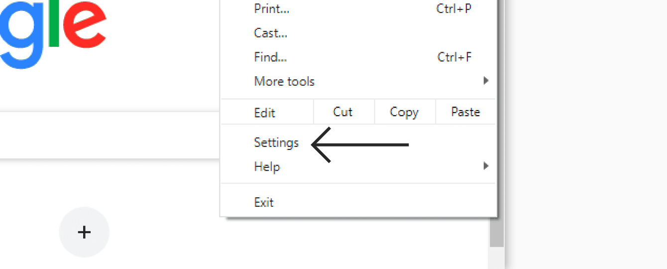 """Click """"Settings."""""""