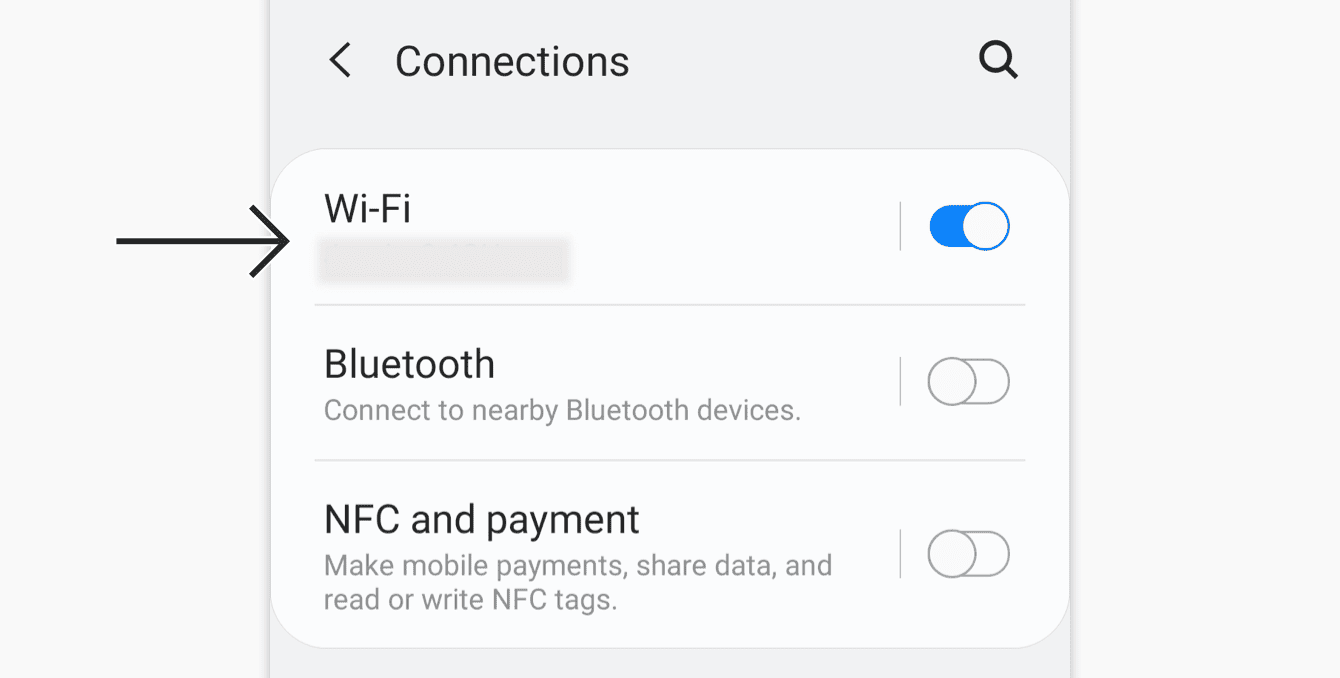 Tap your current active Wi-Fi network.