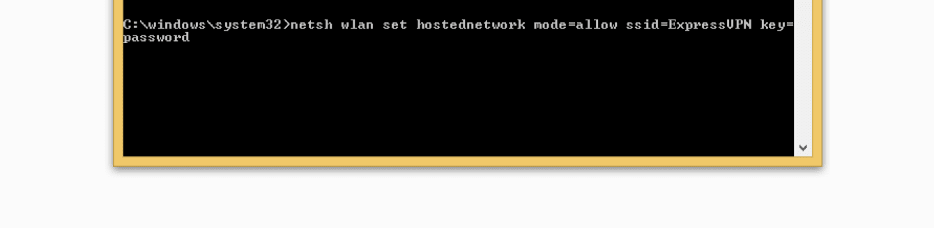 Name your virtual router in the command prompt.
