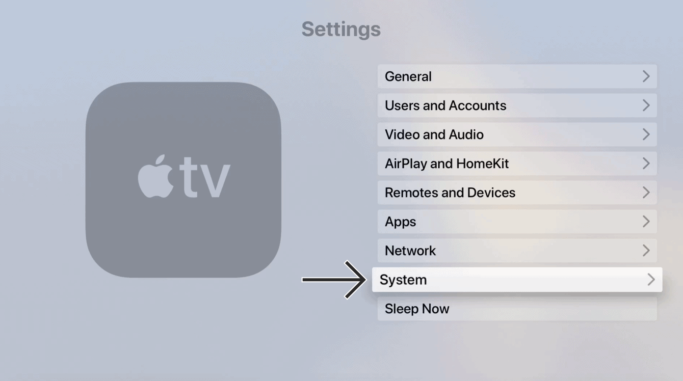"""Select """"System."""""""