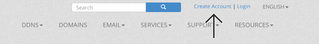 "Click ""Create Account."""