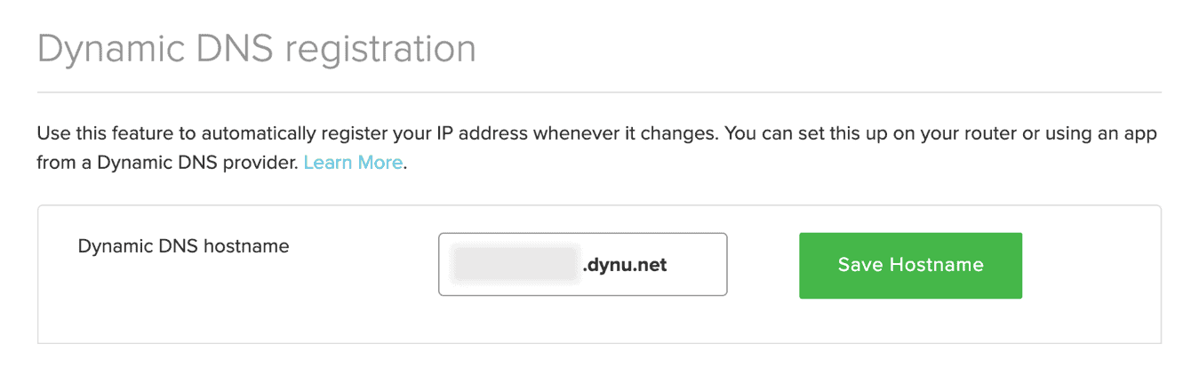 "Click ""Save Hostname."""
