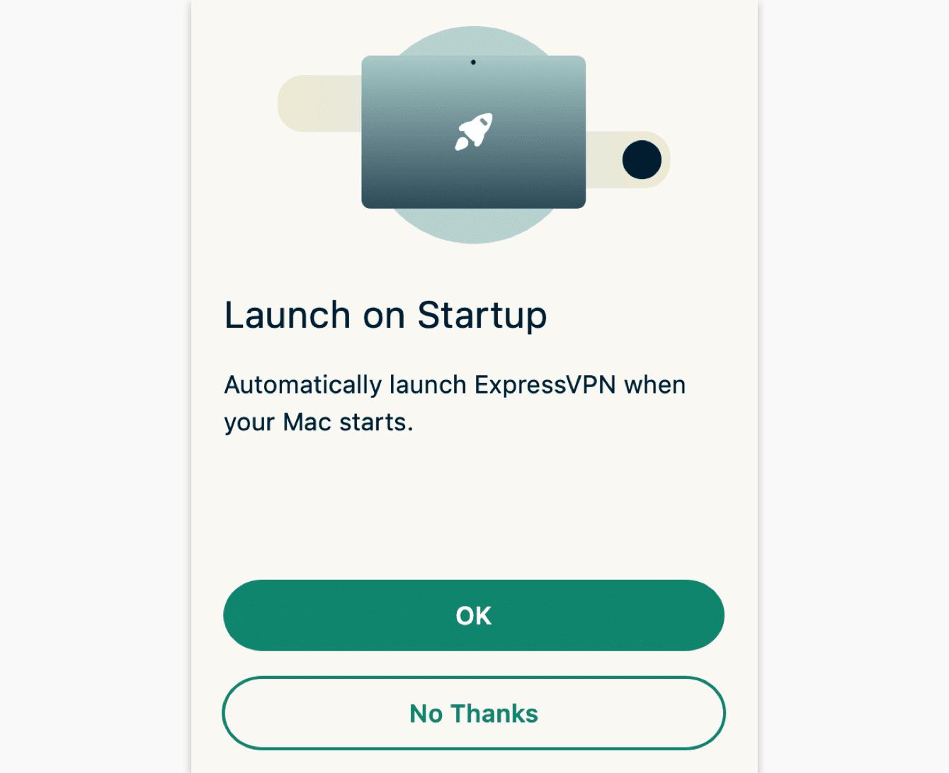 Selecteer uw voorkeur voor het opstarted van ExpressVPN wanneer uw computer opstart.