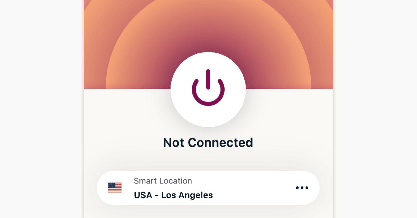 U bent niet verbonden met ExpressVPN.