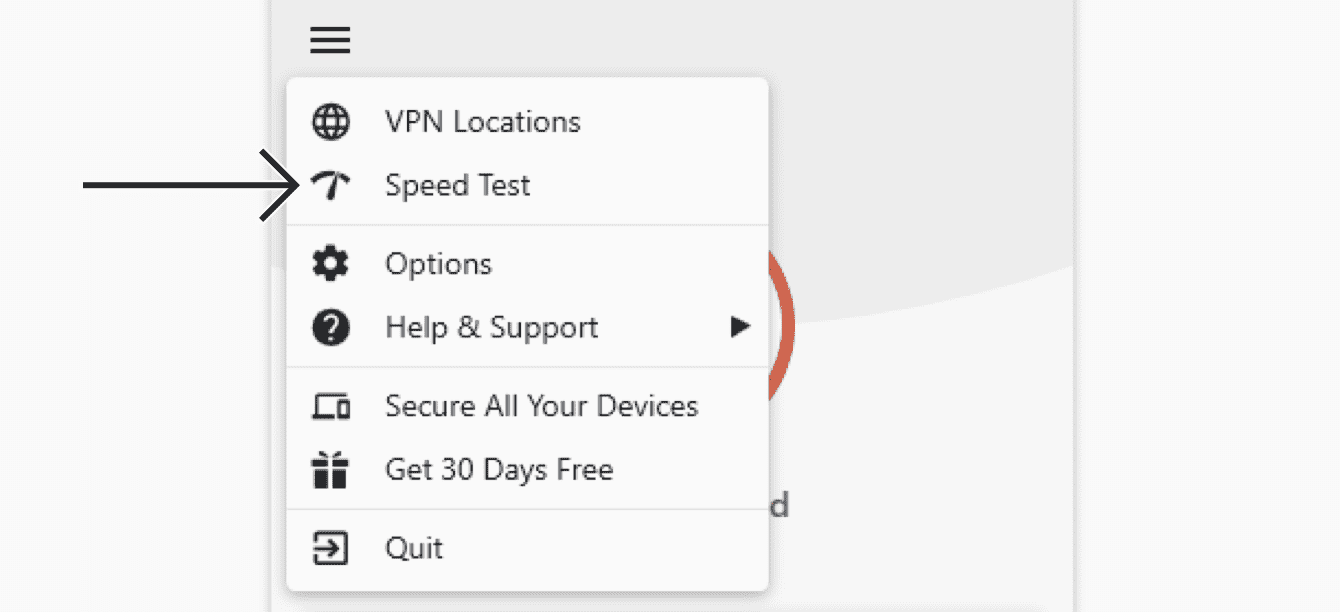 "Click ""Speed Test."""