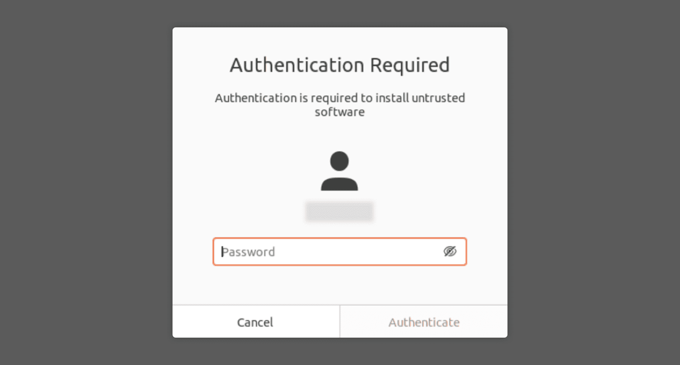 "Enter your password, then click ""Authenticate."""