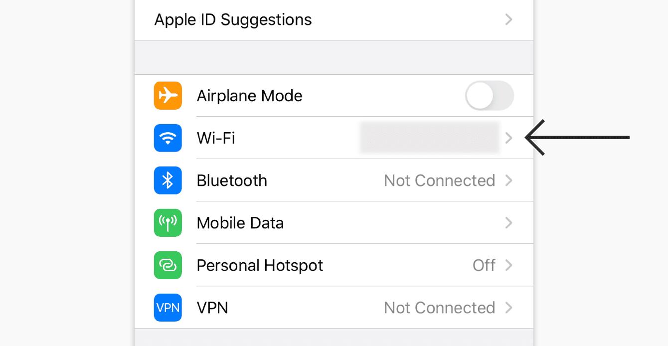 "Tap ""Wi-Fi."""